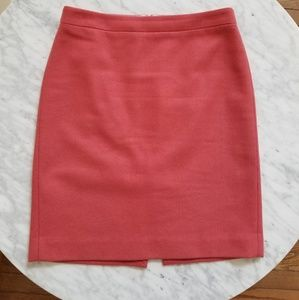 J. Crew Salmon Color Pencil Skirt